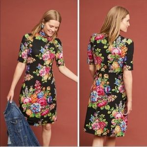 New Anthropologie ett coreyell floral midi dress M